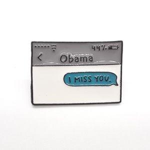Obama I Miss You Pin Badge